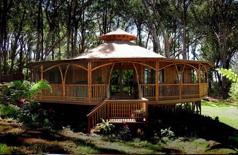 Casas en bambu - Casas de madera redondas ...